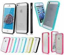 Soft Silicone TPU Bumper with Clear Hard Matte Back Case Cover For iPhone 5S 6S