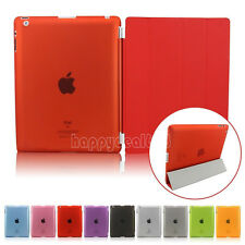 Magnetic Leather Slim Thin Flip Smart Stand Hard Back Case Cover For iPad 2 3 4