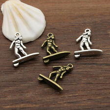 New 20/50Pcs Retro Style Tibetan Silver Alloy Lovely Surfing girl Charms Pendant