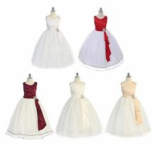 New Flower Girls Dress Party Pageant Wedding Bridesmaid Formal Christmas Fancy