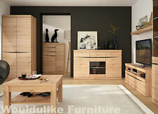 Kensington Living Furniture - Modern Grained Oak Finish - Entire Range Available