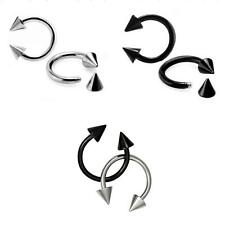 Stainless Steel Septum Spike Barbell Horseshoe Nose Ear Rings Piercing Jewelry