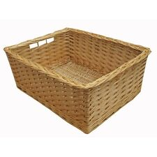 Kitchen Drawer Style Wicker Storage Basket Willow Small Large Fruit Vegetables
