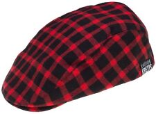 Kustom Kreeps Jeff Cap Red Plaid Black Sourpuss Mens Rockabilly 50s Greaser S-XL