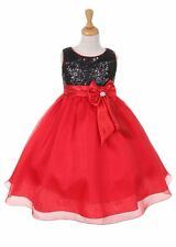 New Flower Girl Red Dress Pageant Christmas Fancy Party Formal Birthday Wedding
