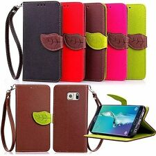 Flip Leaf Strap Magnet Wallet Pu Leather Card Case Cover Skin For S6 edge plus