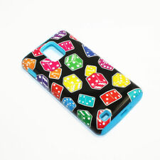 Color Dices Hybrid ShockProof Phone Cover Case For Samsung Infuse 4G I997
