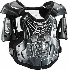 Fox Racing Mens Clear/Black Airframe MX/Off-Road Roost Deflector/Chest Protector