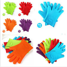 DC Pair Silicone Heat Resistant Gloves Oven Mitts  Pot Holder BBQ Cooking 230℃