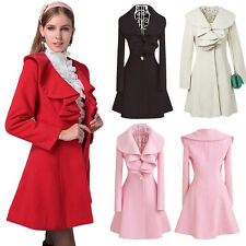 Fashion Slim Womens Ladys Warm Long Coat Jacket Trench Windbreaker Parka Outwear