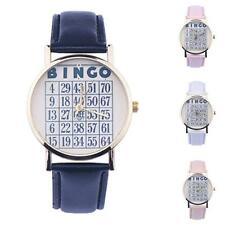 Women Watch Hobby Number Leather Watch Analog Casual Quartz Wristwatches Popular