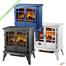 Comfort Glow Quartz Electric Fireplace 1500 Watt Heater Stove Flame Log Portable