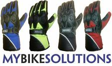 NEW MOTORCYCLE BIKE REFLEX LEATHER TEXTILE WATERPROOF WINTER THINSULATE GLOVES