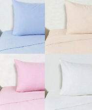 Double Brushed Cotton Flannelette Bed Set Fitted Sheet, Flat Sheet & Pillowcases