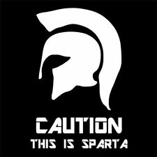 CAUTION! THIS IS SPARTA (spartan warrior leonidas movie 300 Greek hero) T-SHIRT
