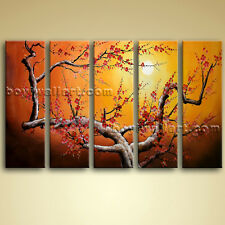 Large Stretched Canvas Oil Plum Blossom Tree Abstract Landscape Picture