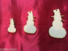 Wooden Snowman MDF Xmas Tags Craft Shapes Baubles Christmas Decoration 0039