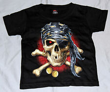 Kids T-Shirt Pirate Skull Size 2-4Jahre to size S Special Offer