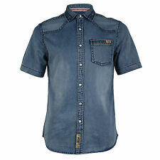 Tokyo Laundry 1H3705 Palermo Mens Collared Neck Vintage Casual Shirt