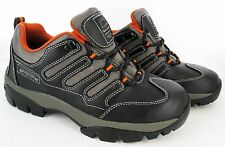 MENS SAFETY SPORT BLACK STEEL TOE CAP LEATHER WORK LIGHTWEIGHT TRAINERS SHOES SZ