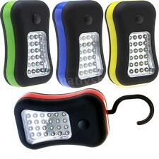 Portable Magnetic Hanging Outdoor Hook Work 28 LED Flashlight Torch Light CT3R