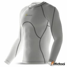 Mens Compression Base layers Shirt Long Sleeve Top Long Tight Thermal Fitness