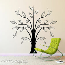 Funky Tree - Vinyl Wall Art Sticker Decal for Lounge, Kitchen, Dining Room etc