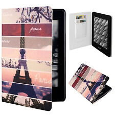 "Eiffel Tower PU Leather Flip Folio Case Cover For 6"" Amazon Kindle Paperwhite"