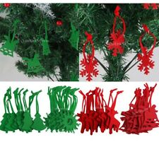 CHRISTMAS TREE HANGING Ornaments - CHOICE of DESIGN 10pc Felt Hangers Decoration