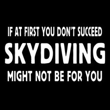 SKYDIVING (parachute skydiver sky dive dvd diving altimeter parachuting) T-SHIRT