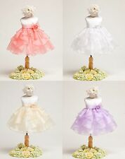 New Flower Girl Baby Dress Pageant Wedding Easter Fancy Formal Bridesmaid 808