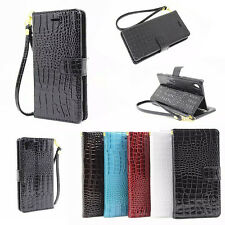 Luxury Leather PU Wallet Magnet W/strap Cell Case Cover For Sony Xperia Phone
