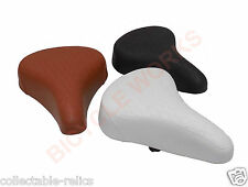 Sprung Spring Quilted Comfort Seat Saddle Mens Ladies Bicycle Retro Vintage Bike