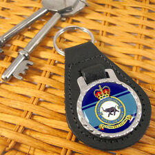No. 249 Squadron Royal Air Force (RAF) Leather Key-fob/Metal Keyring