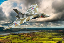 Avro Vulcan Bomber - Ready to Hang -  Digital Painting Large Framed Canvas Print
