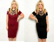 D91 Womens Formal Wedding Evening Cocktail Bodycon Sexy Race Party Plus Dress