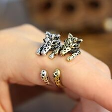 Hot Women Lovely Ancient Silver/Bronze Adjustable Giraffe Ring Jewelry For Gifts