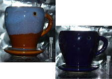 Ceramic Cup & Saucer Style Aroma Oil Warmer/Burner with bonus oil and tea light