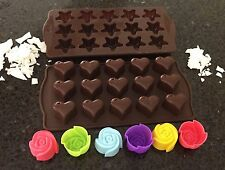 ~MINI SILICONE (INDIVIDUAL) TART/MELT MAKING MOULDS~ASSORTED~YOU CHOOSE!!