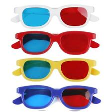 5 Pairs Children Kids Red Blue Cyan 3D TV Glasses For Anaglyph Movie Game DVD