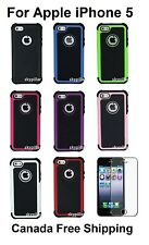 "4"" Apple iPhone 5 5G 5S Impact Hybrid ShockProof Hard Case Cover + Protector"