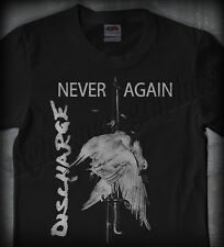 DISCHARGE #01 NEVER AGAIN •OFFICIAL SHIRT• (varukers disclose d-beat punk crust)