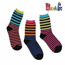 Meisterin Match&Go 5prs Women Men Multi Stripe Crew Cotton Socks Korea