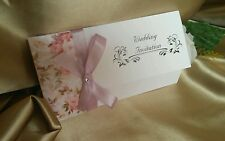 Wedding Invitations Handmade with Envelopes, FREE RSVP cards, -Free post--