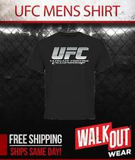 """UFC """"CHROME LOGO"""" TEE BRAND NEW AUTHENTIC T-SHIRT NWT - SHIPS SAME DAY"""