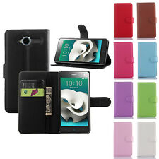Flip Leather Wallet Case Cover Pouch For ZTE Blade L3 & Screen Protector