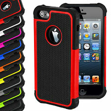 Shock Proof Hybrid Hard Silicone Builder Case Cover For Apple iPhone 4 5 5S 5C 6