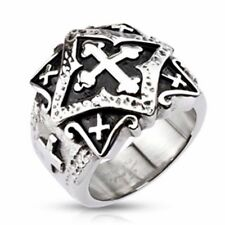 Men's Women's Ring Ornament Cross 8 Sizes stainless steel jewelry by ALLFORYOU