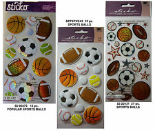 NEW SPORTS BALLS * Your Choice * Football Soccer Basketball Golf STICKO Stickers