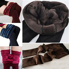 Sexy Women's Thick Warm Fleece Lined Fur Winter Tight Pencil Slim Leggings Pants